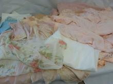 Large Lot Ladies Vintage Silk & Stain Night Gowns