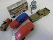 3 Corgi Bus, Water Filter, Saab & 3 Misc Toy Cars