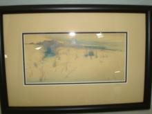 Cape Cod Beach Pen & Ink Unknown Artist