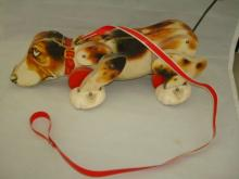 Fisher Price Wooden Snoopy Beagle Pull toy