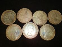 7 Canadian Silver Dollars
