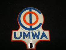 UMWA United Miner Workers Association Plate Topper