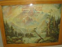 Producers' Dairy Nashua NH Framed Puzzel