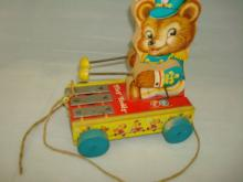 Fisher Price Tiny Teddy Pull Toy