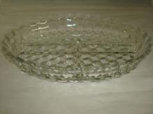Fostoria 'American' Clear Divided Relish Dish