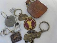 7 Key Chains Tractors, Shovel, John Deere