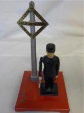 Lionel No 1045 Flagman at Railroad Crossing