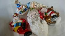 5 Vintage Blown Mercury? Glass Christmas Ornaments