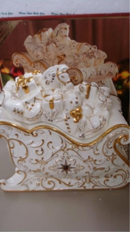 Lenox Florentine & Pearl Sleigh Candy Dish