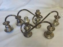 2 Weighted Sterling Silver Candelabra Tops