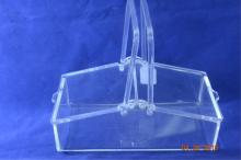 Picnic Basket Style Clear Lucite No Maker Listed