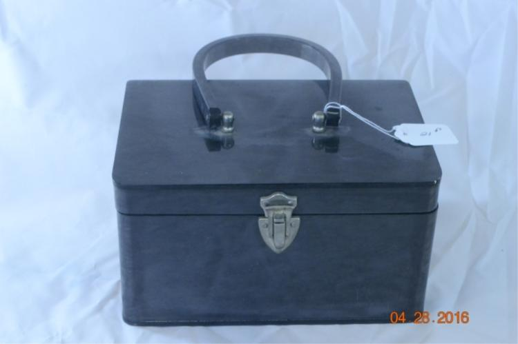 Dark Gray Lucite Box Purse