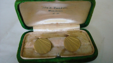 Gold Tone Dress Shirt Buttons in Box Varick