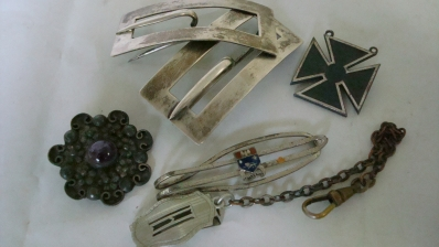 Sterling Silver Pins, Medals, Money Clips