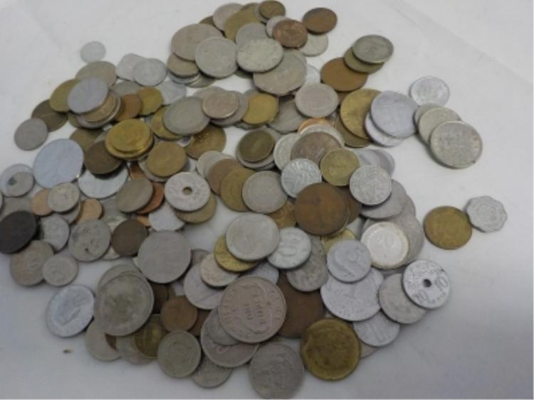 Bag Lot Foreign Coins Different Countries ~100