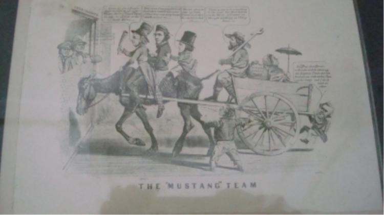 The Mustang Team Currier and Ives 1856