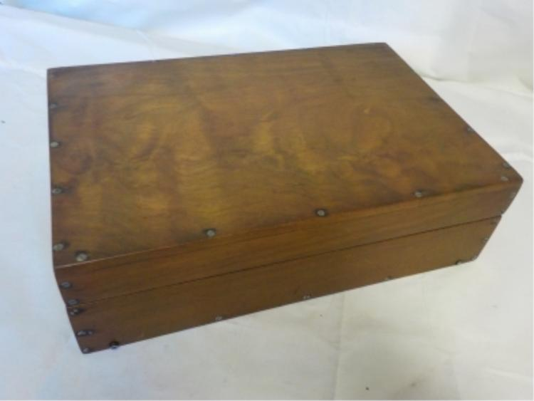 Wooden Box with Tiny Silver Tone Screws