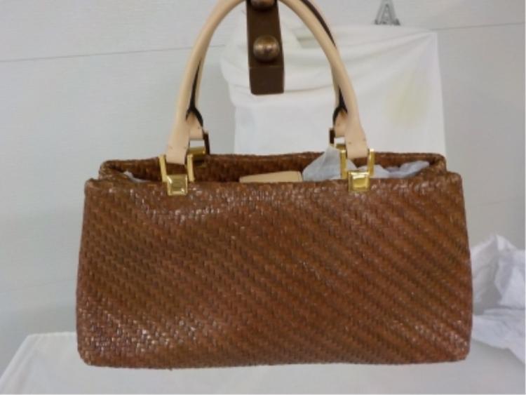 ADRIENNE VITTADINI Brown Woven Handbag