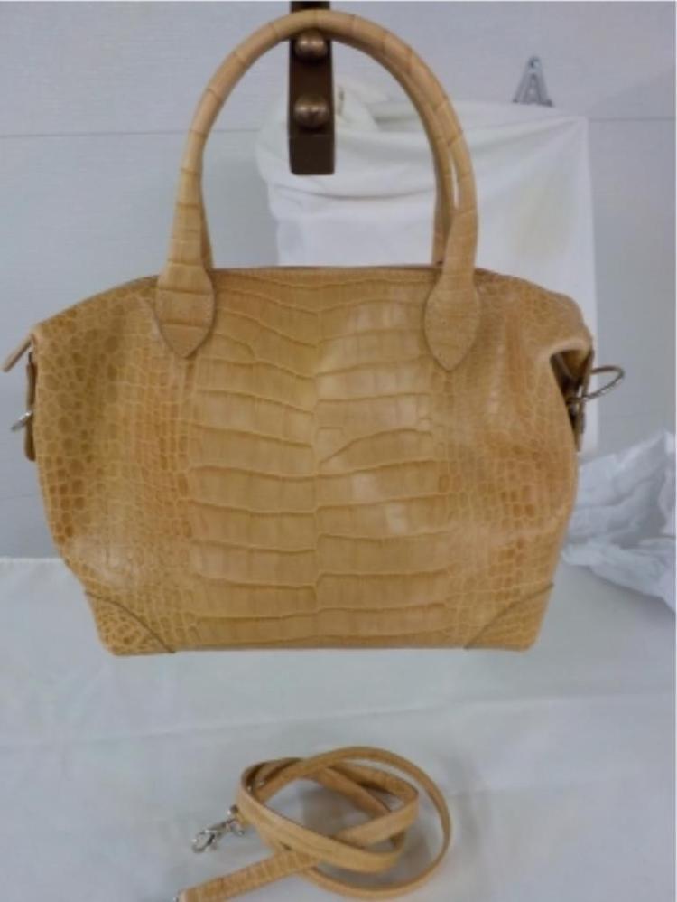 MITZIE BAKER Snake Skin Leather Handbag