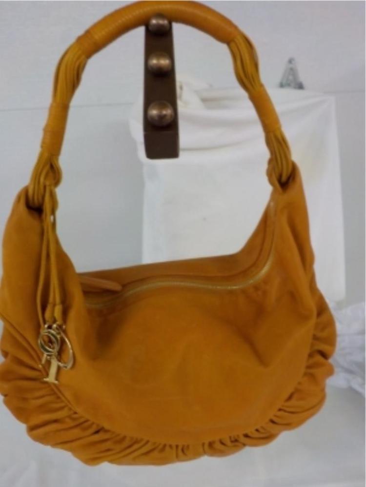 CHRISTIAN DIOR Pumpkin Leather Handbag