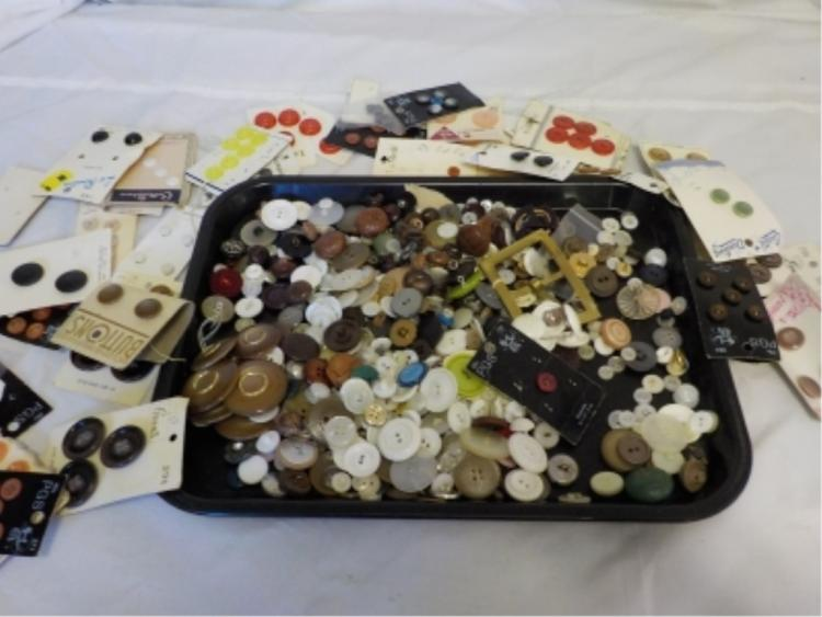 25 oz Misc Vintage Household Buttons - cards