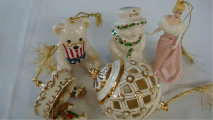 Lenox Ornaments (5) Carousel, Barbie, Teddy Bear