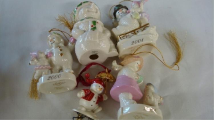 Lenox Christmas Ornaments (5) All Snowmen