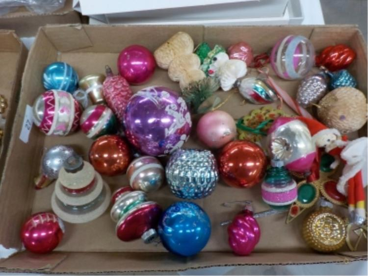 26 Hand Blown 1940-50's Christmas Ornaments