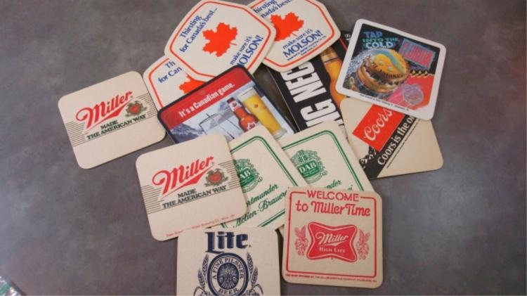 13 Drink Coasters DAB, Molsons Miller