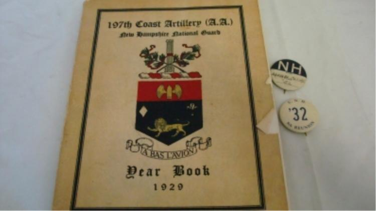 197th Coast Artillery NH National Guard 1929 YB
