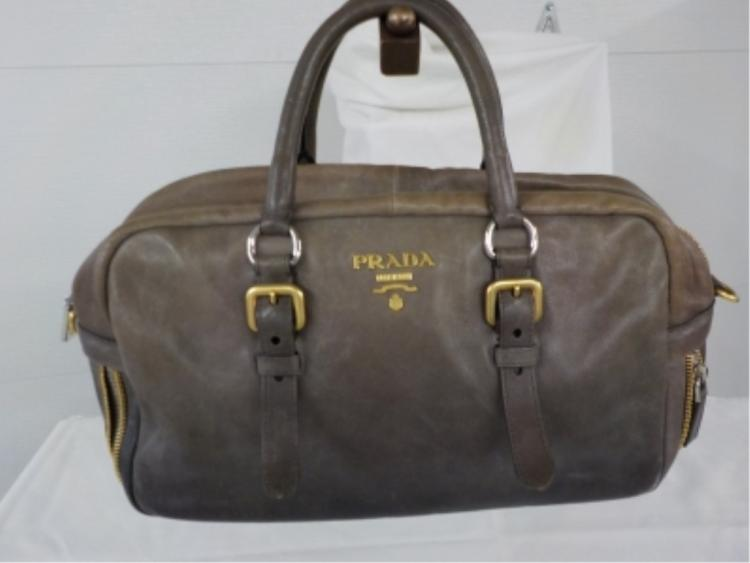 PRADA Brown Leather Handbag Never Used