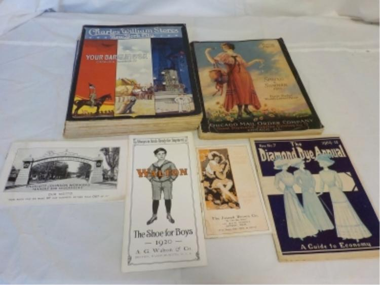 6 Store Catalogs Early 1900-1910's