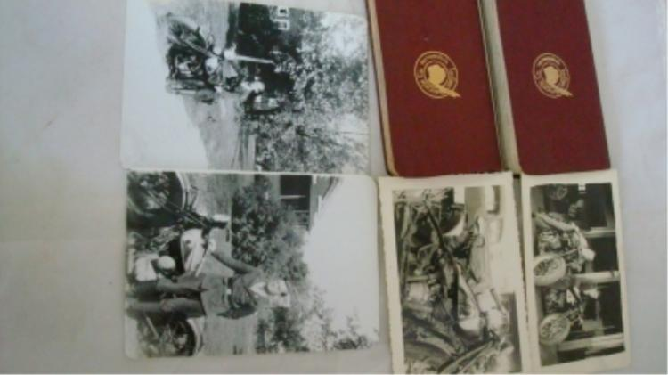 2 Indian Motorcycle Notes Plus 4 Early Photos