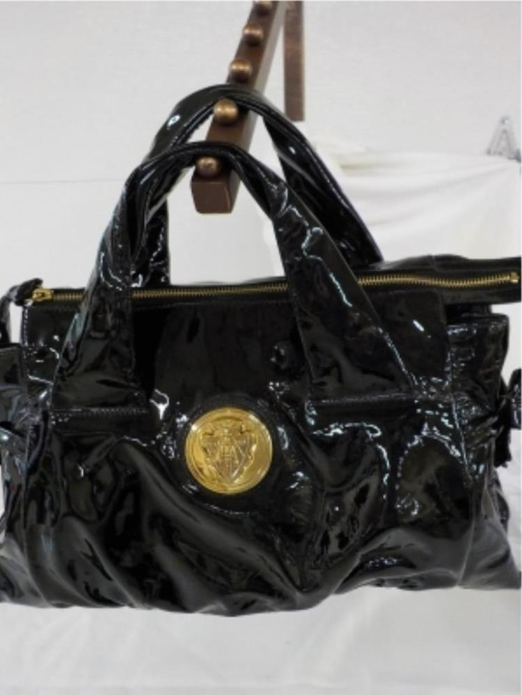 GUCCI Black Patent Leather Handbag