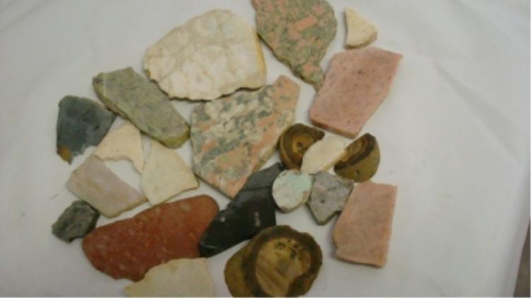 Rock Lot #3 Whites, Pinks, Black, Green