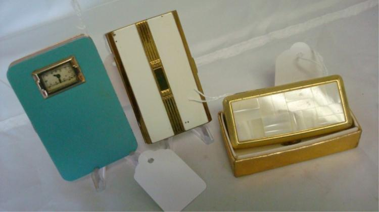 Evans, Clover, Unmarked Vintage Compacts