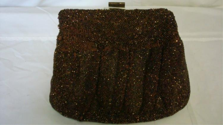 Du Bonnette Beaded Purse with Chain Handle