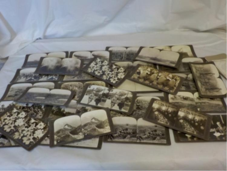 ~30 Underwood & Underwood WWI Stereo View Cards