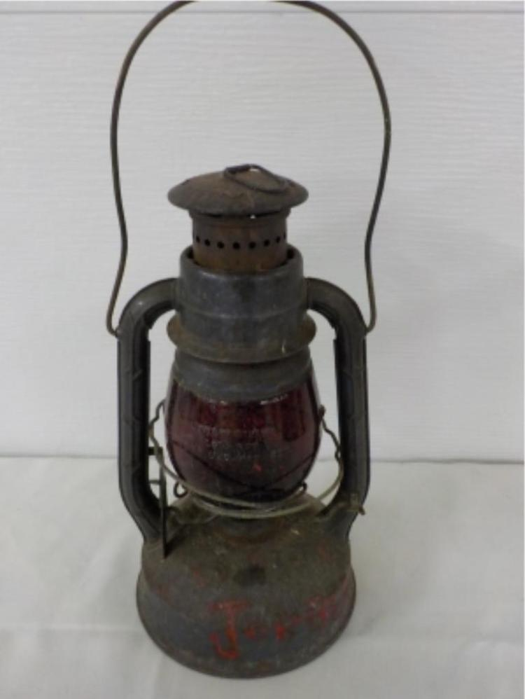Dietz Syracuse NY Red Glass Railroad Lantern