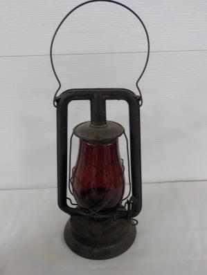 Paull's Red Glass Train Lantern