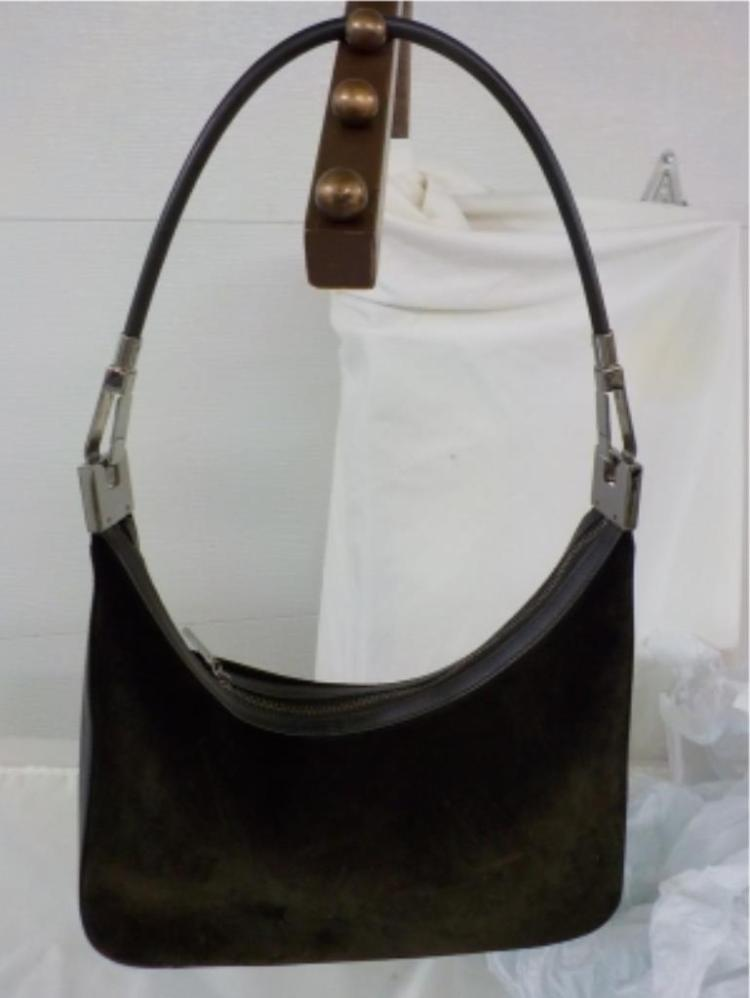 GUCCI Brown Suede Handbag Never Used
