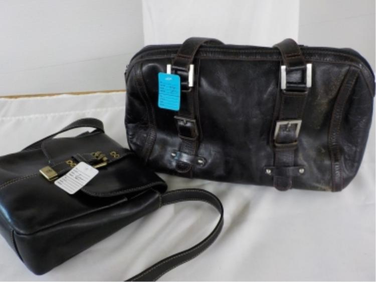 Etienne Aigner 2 Black Leather Handbags USED