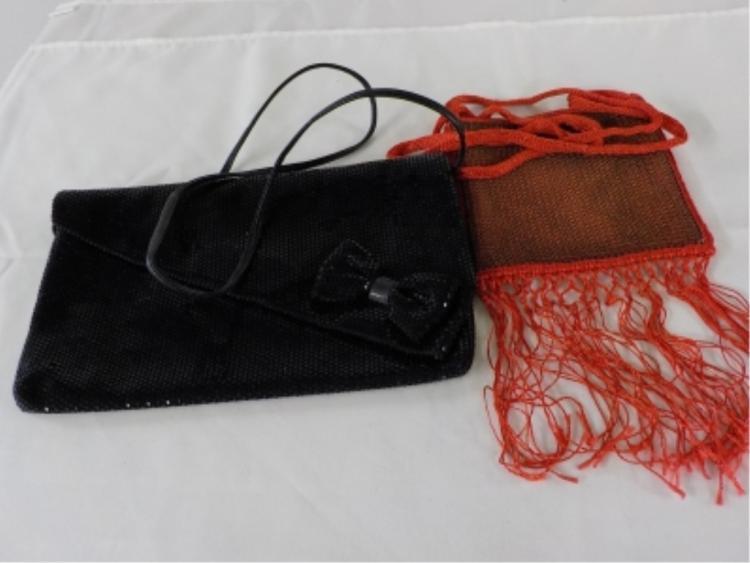 NANCY BACICH Red Evening Bag & Black Sequin