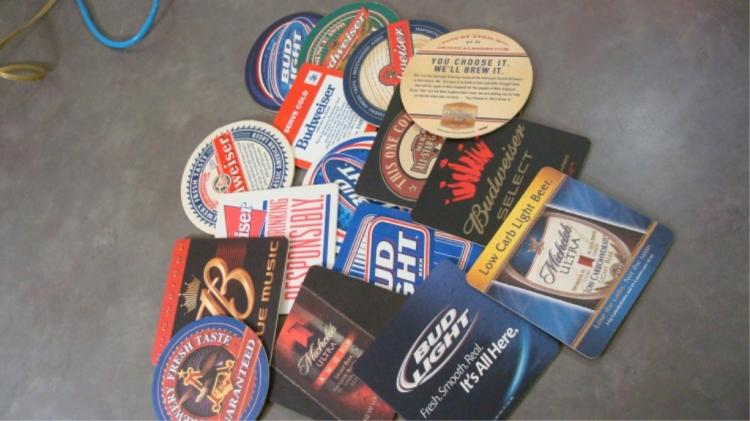 17 Drink Coasters Mostly Budweiser