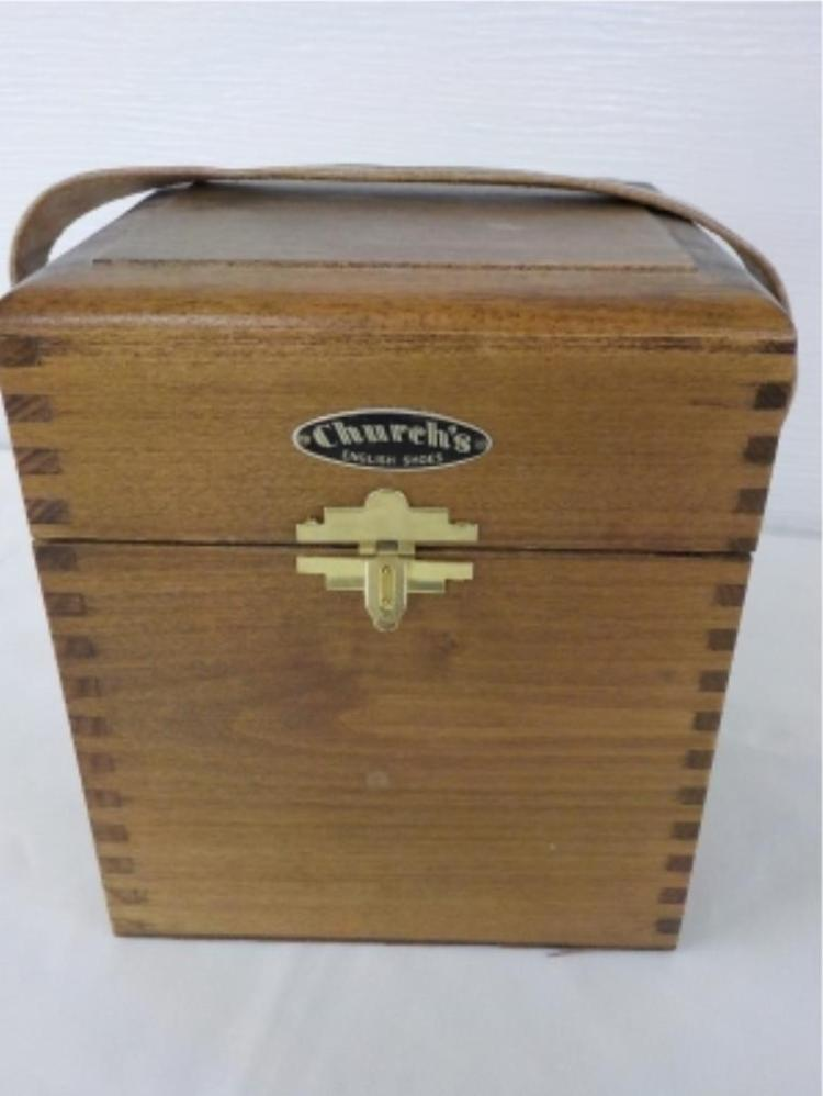 Church's English Shoe Shine Box with Contents