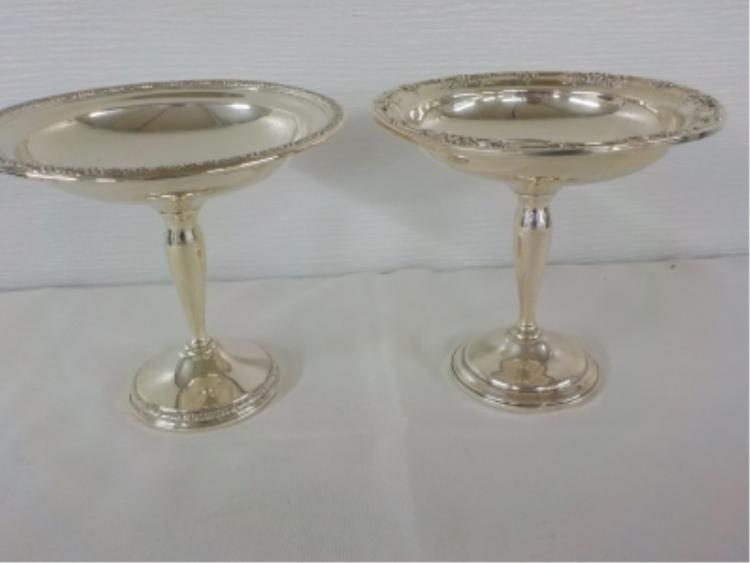 2 Weighted Sterling Silver Compote Dishes