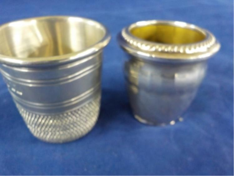 Sterling Silver Shot Glass & Thimble 3.108 ozt