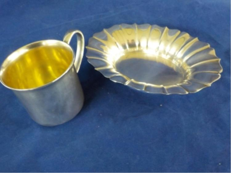 Sterling Silver Cup & Plate 6.315 ozt