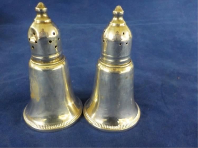 Sterling Silver Salt & Pepper Weighted 3.435 ozt