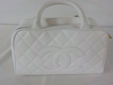 Coco Chanel White Leather Handbag Never Used